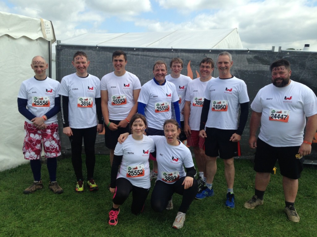 The Wynbrook team before the 5 mile mud obstacle course.