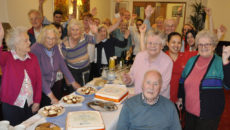 ALL TOGETHER. Residents and staff from various Colten Care homes gathered at the Kingfishers home in New Milton, Hampshire, for an afternoon party to celebrate the provider's 100% 'Good' rating from the CQC.