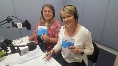 Ruth launches A helping hand during a radio interview