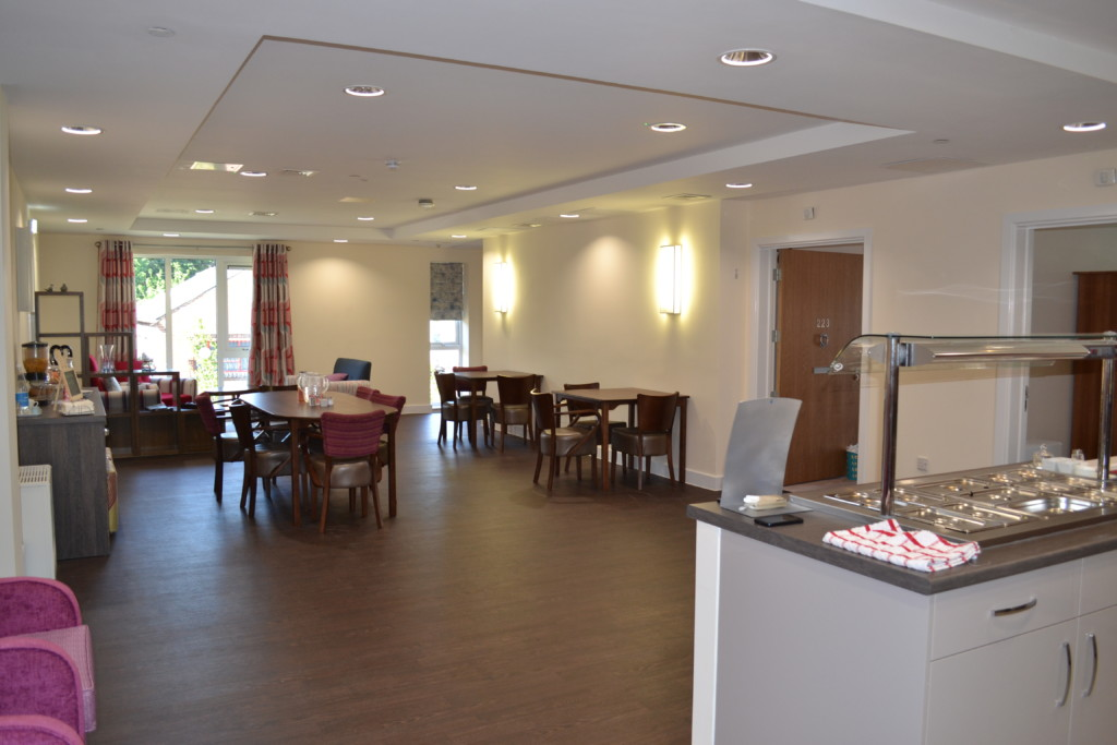 Each community area has a dining room with service area