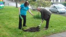 Diana Purshouse Activity Co-ordinator and the Mayor of Dursley