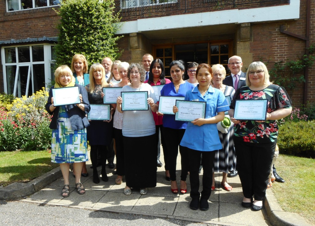 Care Home Staff Rack Up Over 200 Years Of Service