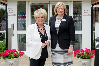Gloria with Weald Heights manager Maria Covington