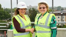 Care UK's Hannah Lee with Mayores of Windsor Margaret Lenton