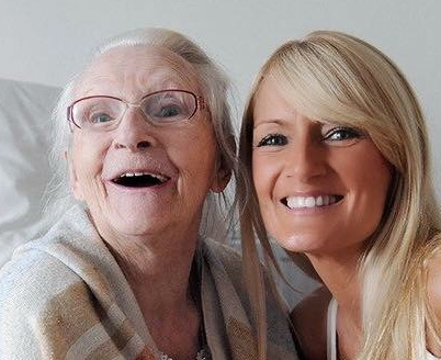 Jayne with her mother Ellen