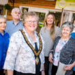 From left - Unit Manager Brittany Quick, Resident Kevin Hunt, Mayor of Taunton Dean Hazel Prior-Sankey, Sherford Manor Manager Katrina Ball, Resident Olive Dear and Senior Career Emma Warren.