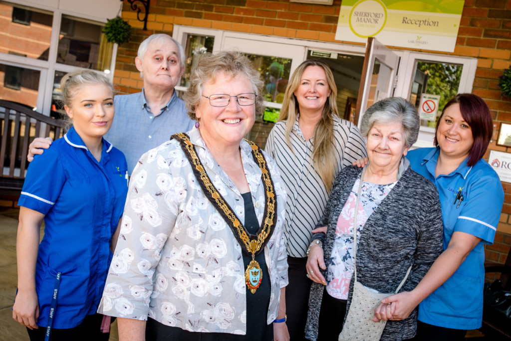Sherford Manor care home celebrate their official re-opening.