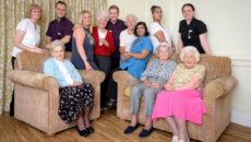 Bucklesham Grange residents and their care teams