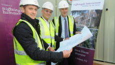 Michael Anderson, Project Manager, Hammerson House redevelopment, Nightingale Hammerson President Harvey Rosenblatt, Nightingale Hammerson Chairman Melvin Lawson