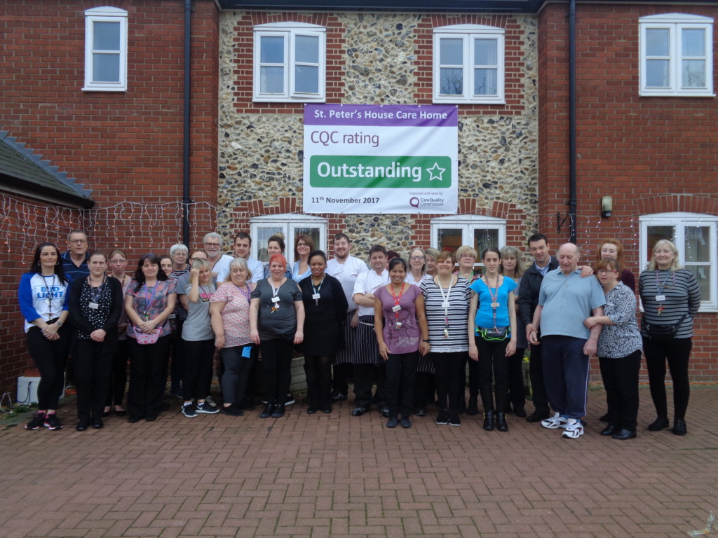 Suffolk Care Home Celebrates CQC Outstanding Rating
