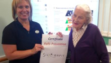 Belong Macclesfield Lead Exercise Instructor, Barbara Tait and Belong Macclesfield apartment tenant, Elisabeth Sparrow