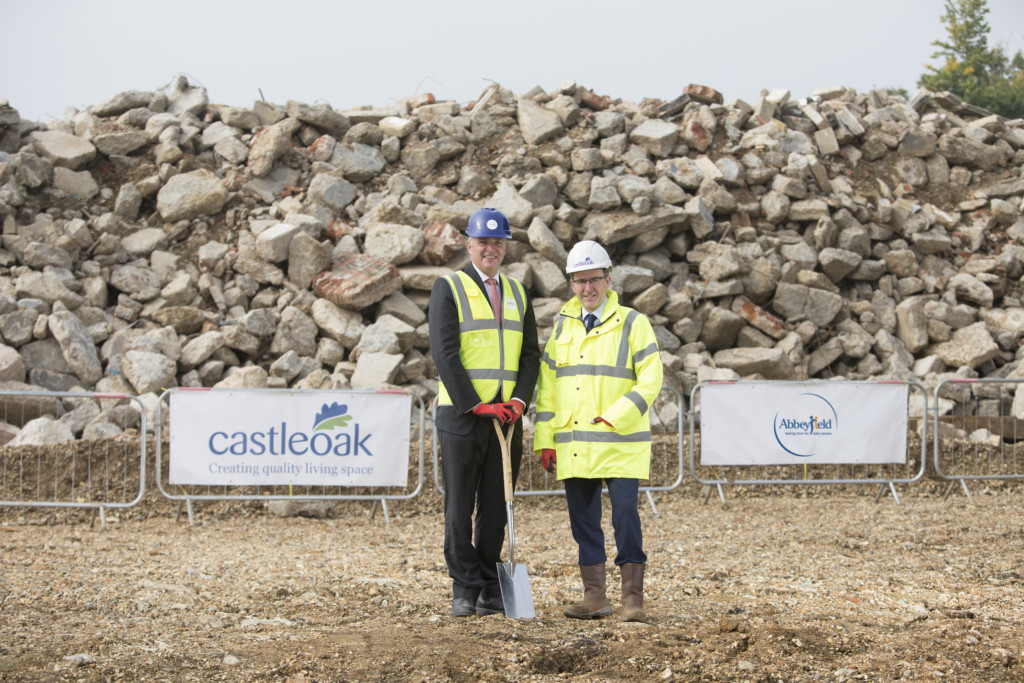 Richard Virr, Director of Development, Abbeyfield (left) with Craig Currie, Chief Executive at Castleoak (right).