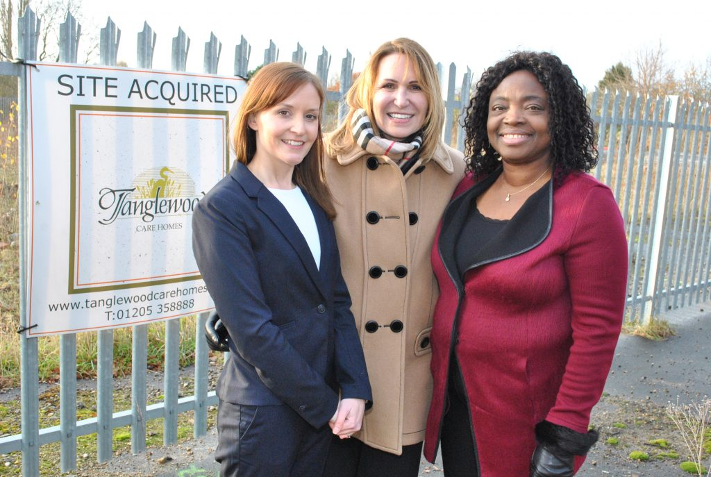 Adele Endersbee, Business Development Manager; Tracy Ann Shelbourn, founder and Director; and Nike Ajewole, Operations Director.
