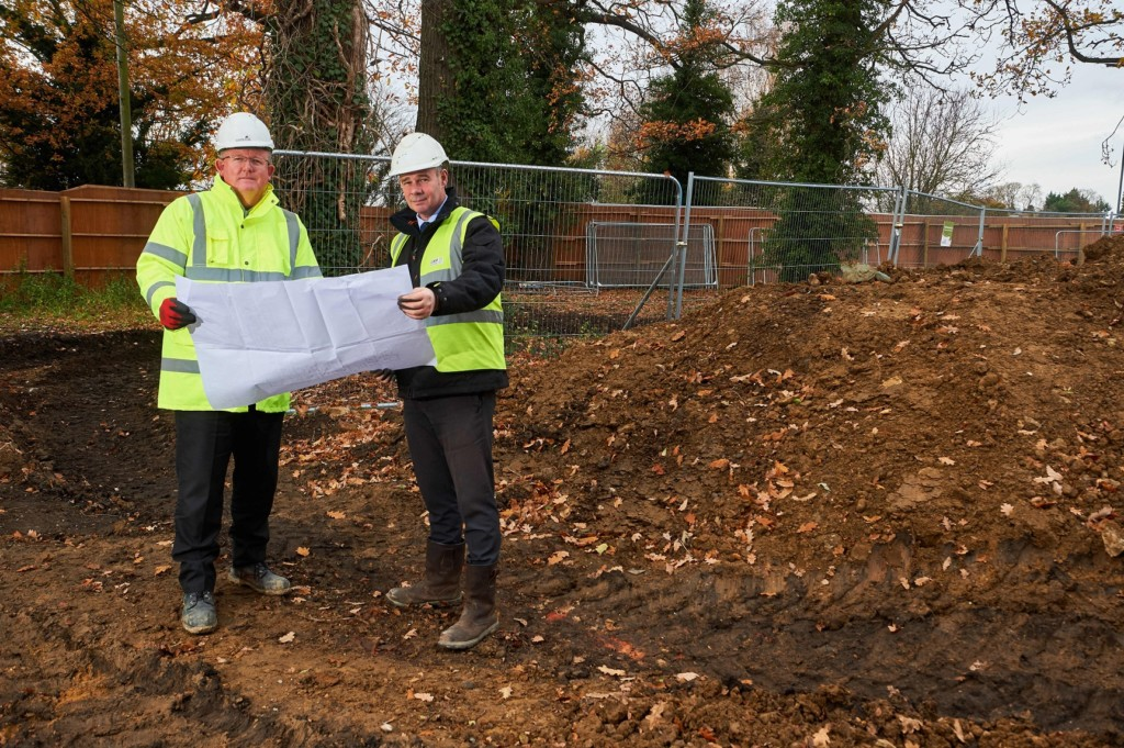 Stephen French, Castleoak project manager (left) and Gary Renton, Care UK construction project manager (right) Photo credit: Simon Jacobs