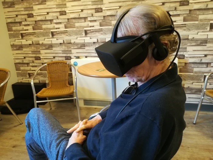 George Gallagher trials VR technology at Clement Park