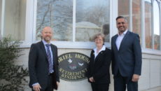 Left to right: Richard Bridgwood (Barclays), Jane Linford (Care Home Manager) and Pete Saini (Oaktrees Healthcare Ltd)