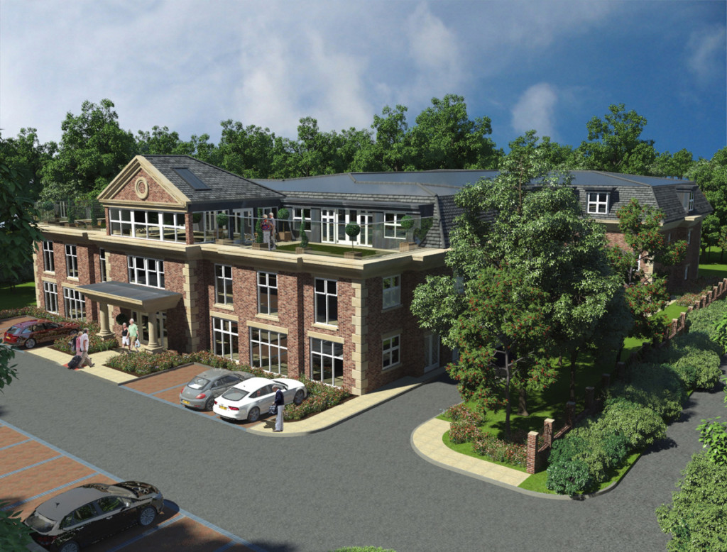 The planned Tranby Park Nursing Home in Hessle