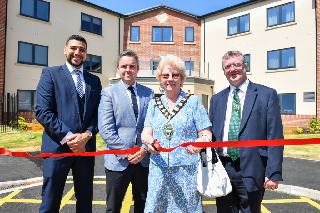 New Care's Kad Daffe and Chris McGoff with the Mayor of Rushcliffe Councillor Maureen Stockwood and Francis Purdue-Horan_