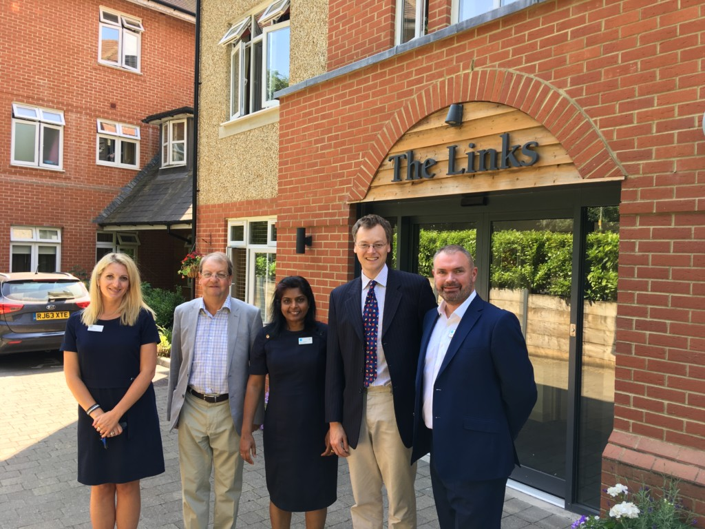 The Links – Sarah Tolley (Bupa) David Newell (local councillor) Gigy Johnson (home manager Bupa) Michael Tomlinson MP David Hynam (Bupa UK CEO)