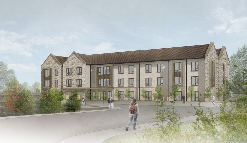 Kent Medical Campus care home – Entrance View cgi