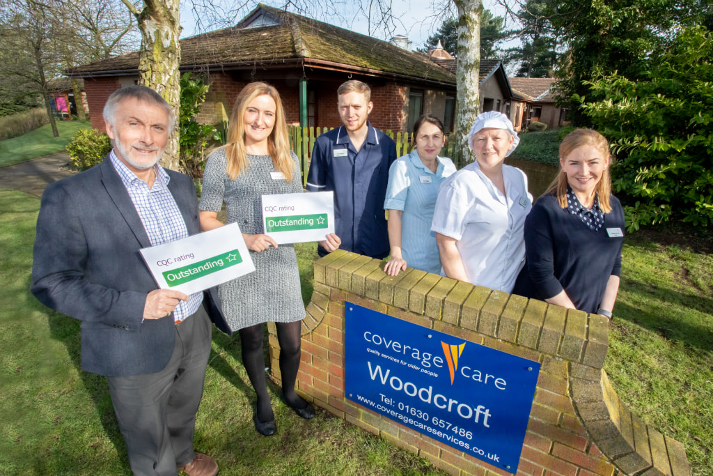 Chief Executive David Coull Manager Kelly Lowry and Tom Barber (Assistant Manager) Sue Steele (Care Assistant) Sharon Edwards (Kitchen Manager) and Heather Er