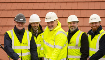 Topping out at newly built care home in Eastbourne