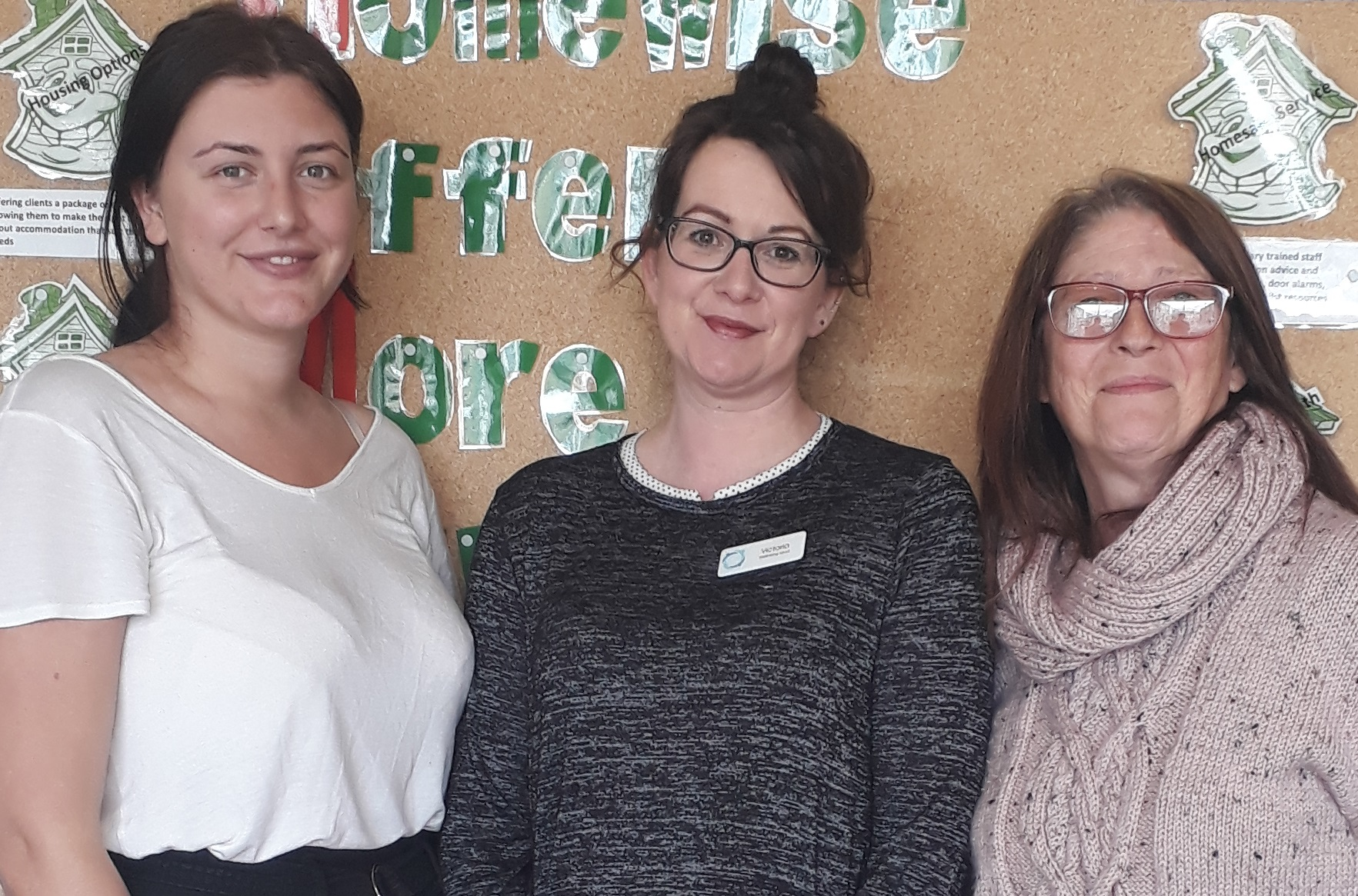 Victoria Huntriss (centre) of Springhill Care with Holly Hartley of Homewise (left) and Lyndsay Wheatcroft