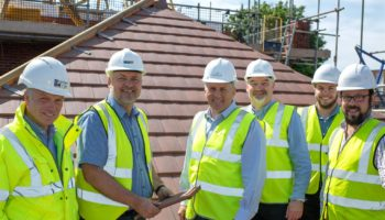 Topping out at newly built care home in Sherborne