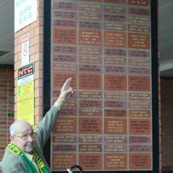 South stand brick