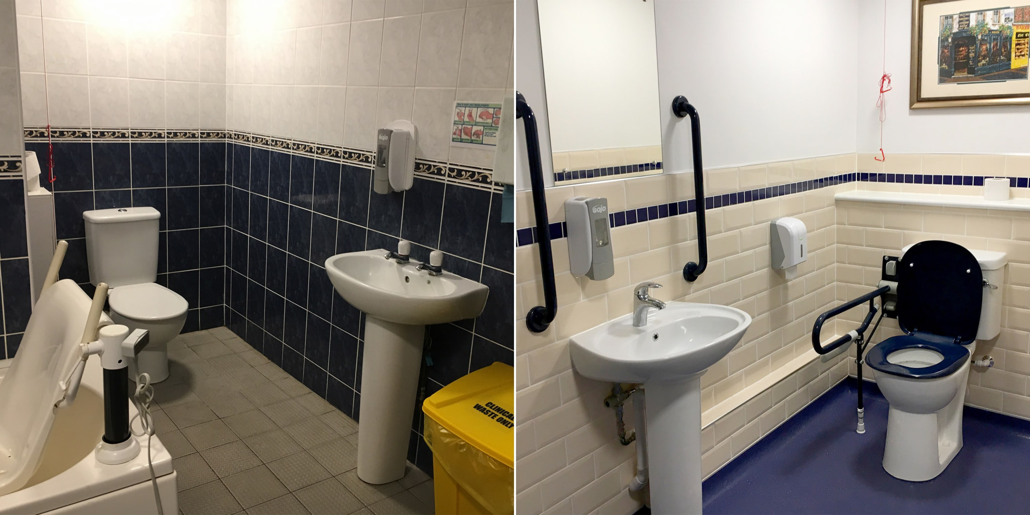Before the refurbishment (left) and after the AKW refurbishment (right) (002)