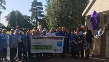Bupa Aylesham Court celebrates it's Outstanding rating