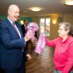 Martin Green with a resident at Mayflower Care Home 2