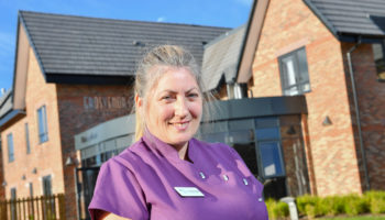 Lynne Jarvis Hughes wellbeing assistant at Grosvenor Manor